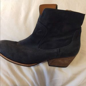 Size 9 Dark Blue Ankle Boots